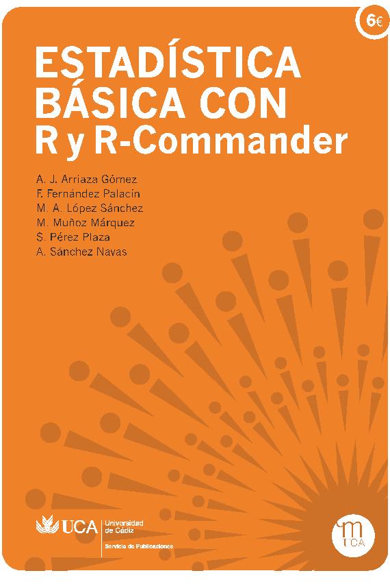 Portada libro Estadística Básica con R y R-Commander